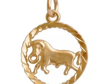 10K Yellow Gold Taurus Pendant