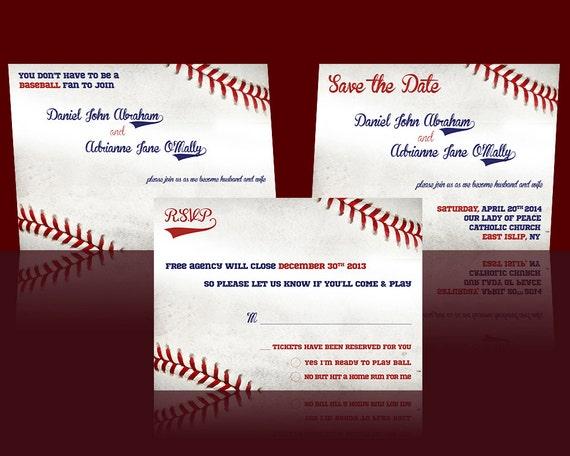 Baseball Wedding Invitation: 301 Moved Permanently