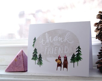 Woodland Baby Thank You Notes - Set of 10