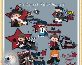 Movie Clipart, Red Carpet Kids 2