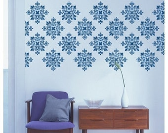 Damask Stencils - Reusable Large Wall Stencils for walls and fabrics - DIY decor