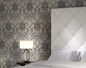 Floretta Damask Stencil Pattern Large size for walls instead of wallpaper
