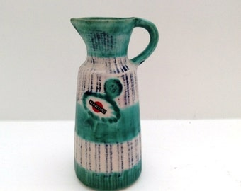 Vintage 1960s ceramic Martini pitcher by Baudour Belgium