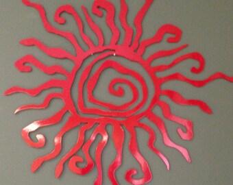 """Sun Metal Wall Art 14"""" diameter Powder Coat finish"""