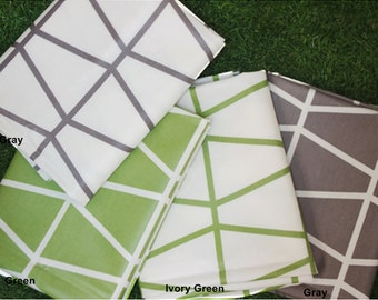 Laminated Cotton Fabric Geometric in 3 Colors By The Yard