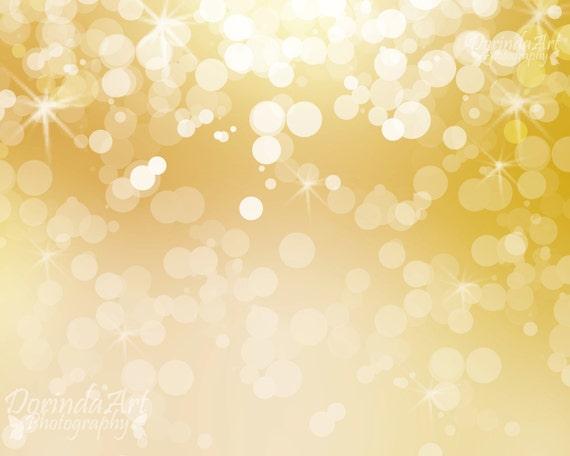 Gold Lights Backgrounds Bokeh background digital print