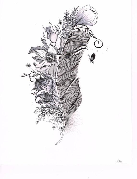 Custom Tattoo Illustration For B I