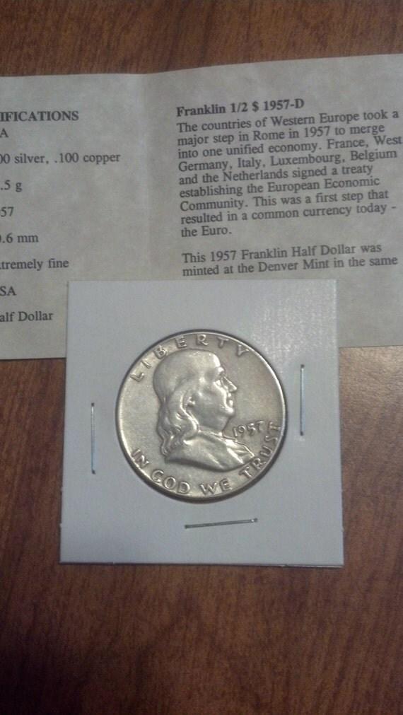 1957-D Franklin Silver Half Dollar SPECIAL Price