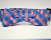 Red and Blue Plaid Boy's Bow Tie