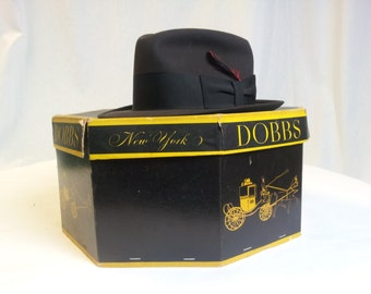 Vintage Dobbs Hat and Box