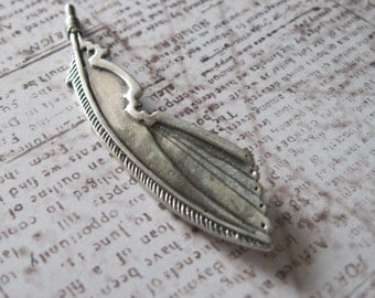 Sterling Silver Southwestern Feather Pendant - Made in USA