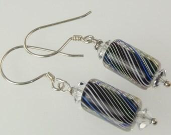 Artisan - Sterling Silver Furnace Glass Earrings E063