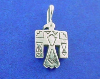 THUNDERBIRD Charm, Native American INDIAN .925 Sterling Silver Charm Pendant
