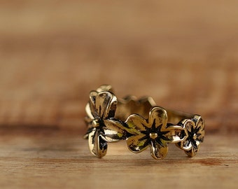 Bronze Ring * Forget Me Not * r019