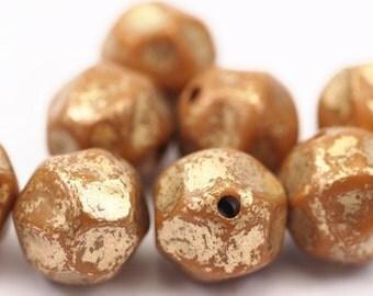 20 psc 18mm Verdigris Brown Faceted Plastic Beads  , Vintage German Beads , Findings , Lucite Beads  - bk330