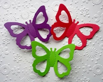20 Bright sizzix 3D Butterfly die cuts for cards toppers cardmaking scrapbooking paper craft
