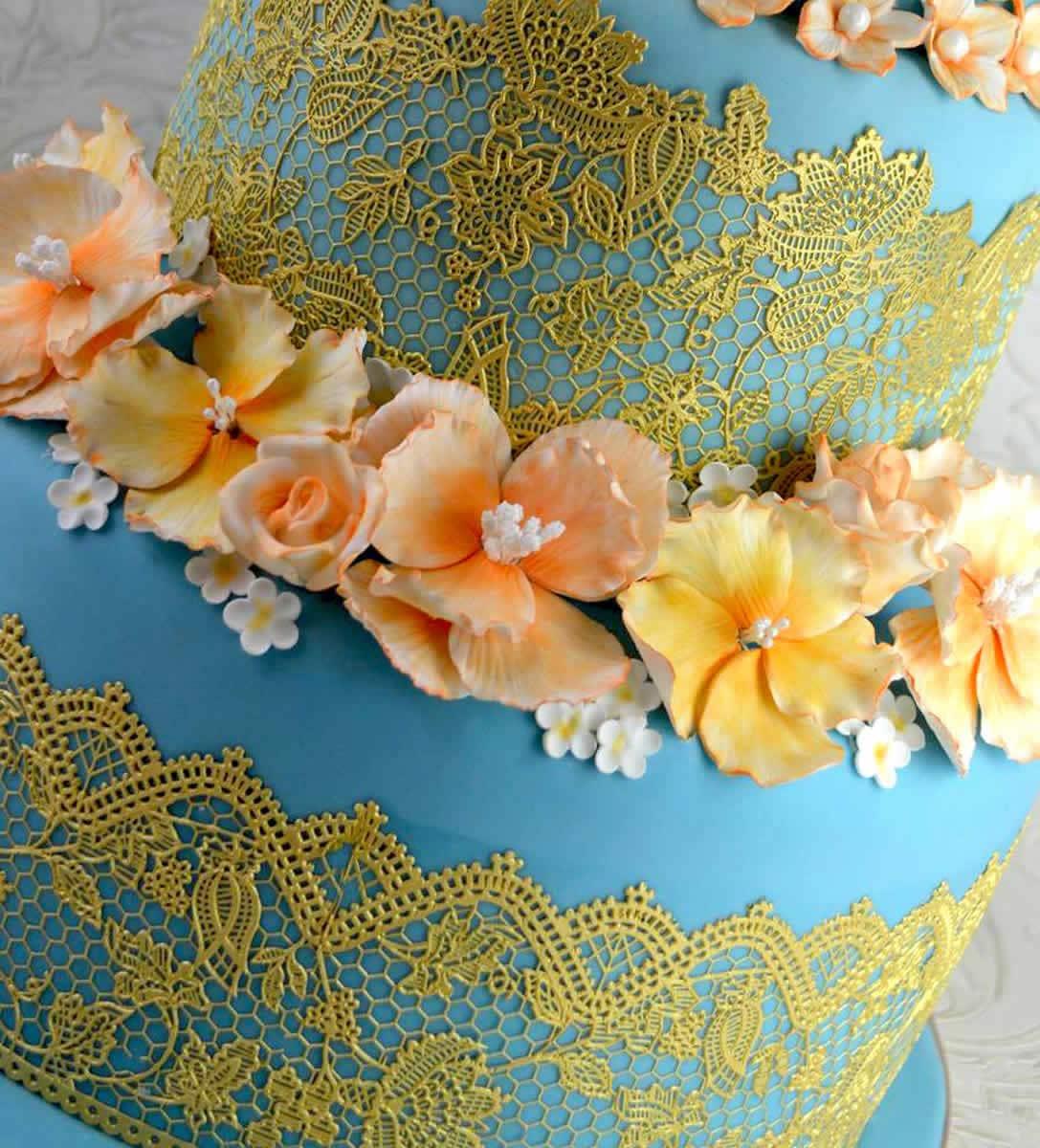 Easysugarlace Etsy Sugar Cake Lace Mix Aztec Cake Lace Mat