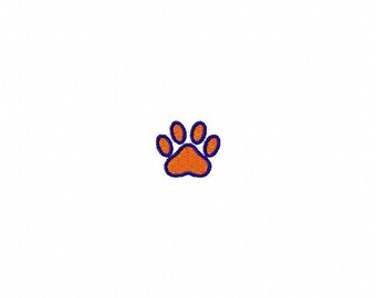 Single small paw print embroidery design download - 4x4 hoop size