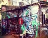 Urban photography, London photography, graffiti, street art, urban art, city print, bright pastels, fine art photograph - Vintage shop