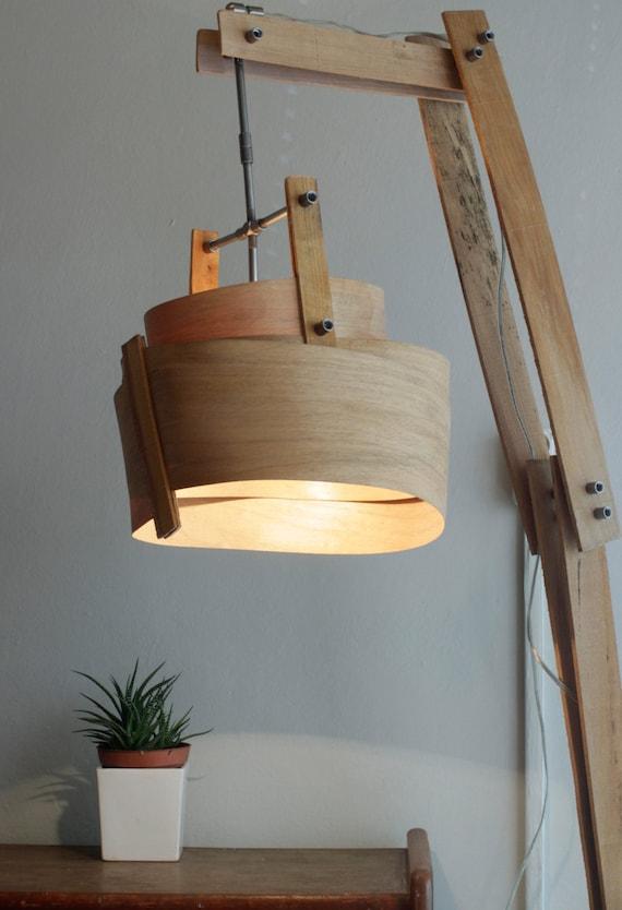 Wooden floor lamp rustic floor lamp handmade wood lamp for Wooden floor lamp etsy