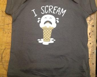 Baby Onesie // I Scream Ice Cream