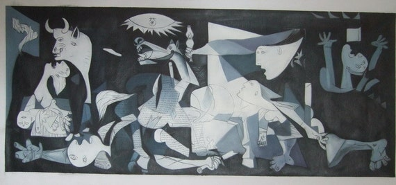 synthesis of guernica oil painting As the world's most famous artist, and as the director of the prado museum in   they established that guernica's canvas was comprised of rough jute primed in a   in preparation for the bombing of the prado, most of the great.