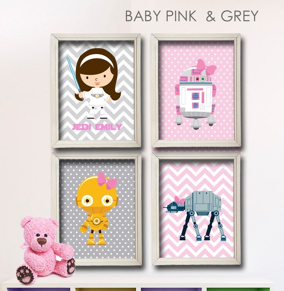 Popular Items For Nursery Decor On Etsy Baby Shower: Items Similar To Baby Girl Star Wars Nursery Art- Girl