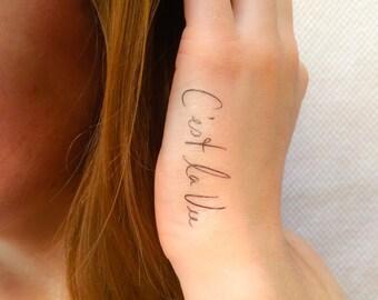 2 C'est La Vie Temporary Tattoos - SmashTat