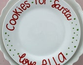 CUSTOM Santa Cookie Plate Handpainted Ceramic Plate-Christmas