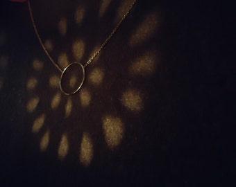 Collier Cercle Ma Vie anneau central plaque or ou argentmassif