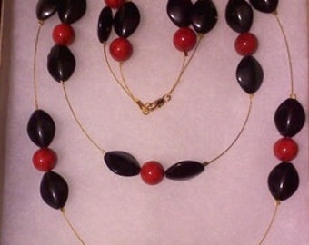 Pretty Red and Black Necklace