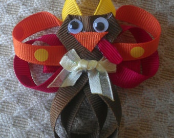 Tilly the Turkey Hair Clip