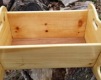 Portable wooden rocking baby cradle