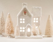 Glitter Christmas Victorian House