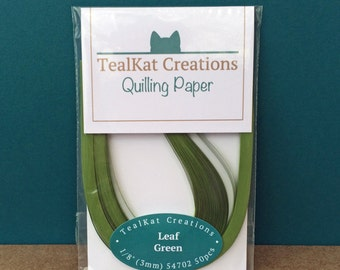 Leaf Green Quilling Paper