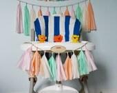 Mini Tassel Garland, Pastel, Mint, Peach, Blush, Pink, Nursery Decor, Baby Shower, Bridal Shower, Baby Prop, Cake Smash Prop, First Birthday
