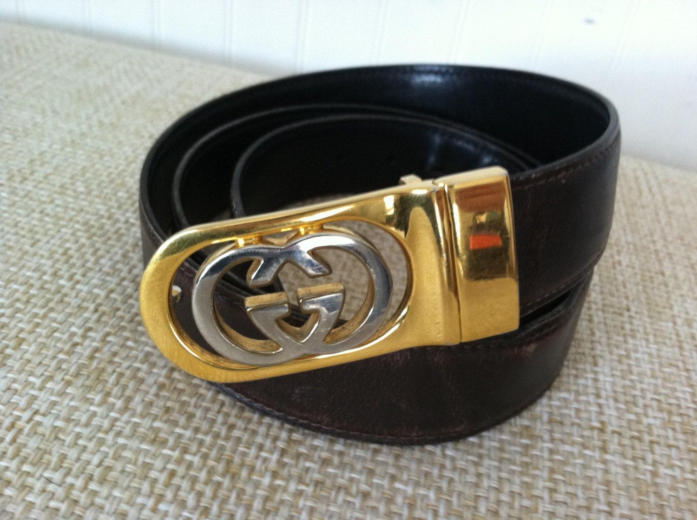 Gucci Belt Serial Number >> VINTAGE GUCCI Belt Leather Vintage Gucci 36 Italy Preppy