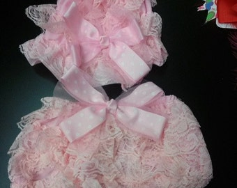 lace hat and bloomers