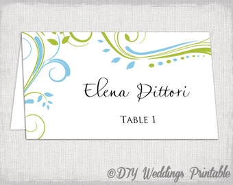 place cards template word download
