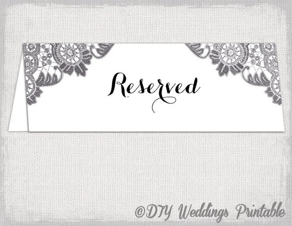 ... wedding tent table card - Charcoal gray YOU EDIT Word download