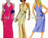 Evening Dress UNCUT Butterick 3080 Fast & Easy Slim Fit Halter Dress Cocktail Evening Open Back Special Occasion Figure Flattering Very Easy - FindCraftyPatterns