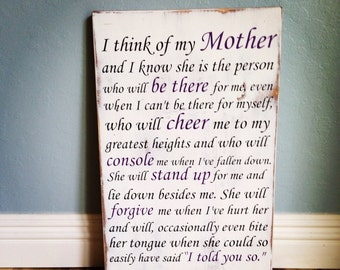 Mother sign - antique white and distressed