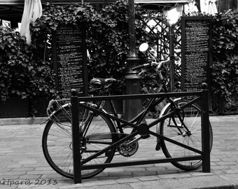 Paris Photography, Paris Photo, French Decor, Paris Decor, Black and White, Bicycle