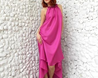 Maxi Asymmetric Dress / Plus Size Maxi Kaftan / Oversize Extravagant Dress / Long Asymmetric Kaftan Dress TDK46