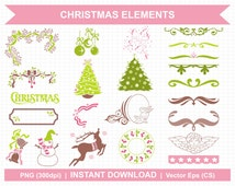 Elements of Christmas - Digital Clipart