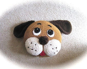 Crochet Pillow Pattern, Crochet Dog Pillow, animal pillow for nursery decor and baby bedding