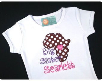 Girl Adoption Shirt African Adoption with Embroidered Name