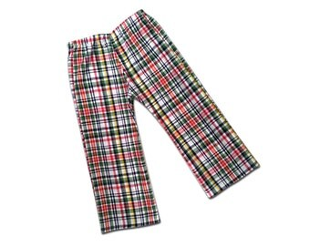 Boy's Back to School Autumn Plaid Pants (or Shorts)
