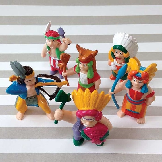 Cake Decorating Plastic Figurines : Items similar to 6 Indian Figures, Native Americans Cake ...