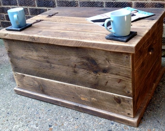 Bespoke Coffee Table/Chest Handmade from Reclaimed Timber